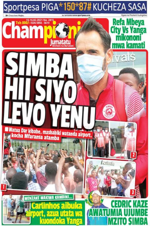 SIMBA HII SIYO LEVO YENU | Champion Jumatatu