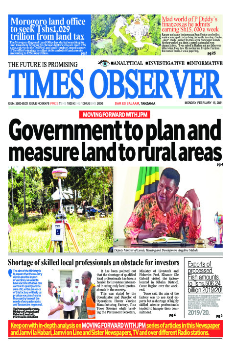 Government to plan and measure land to rural areas | Times Observer