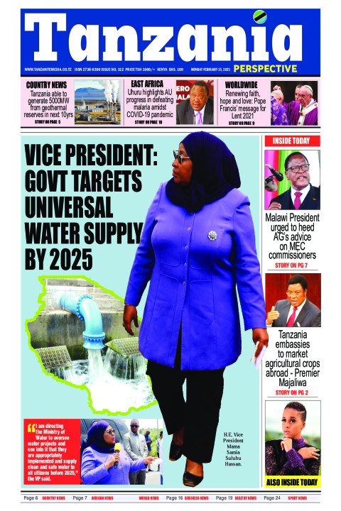 Vice President: Govt targets universal water supply by 2025 | Tanzania Perspective