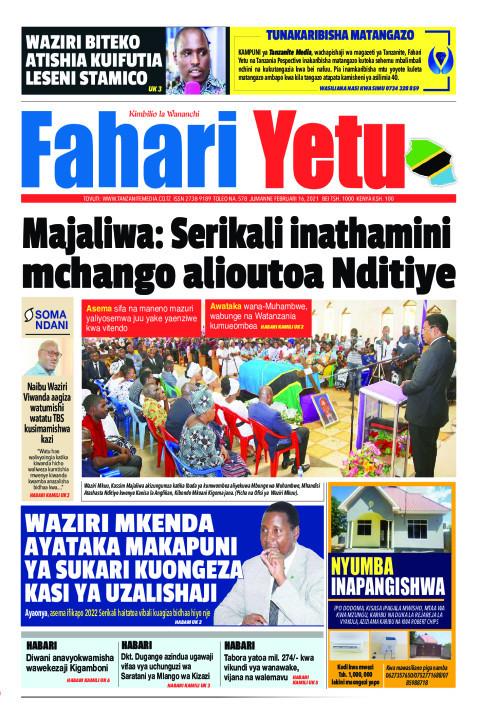 Majaliwa: Serikali inathamini mchango alioutoa Nditiye | Fahari Yetu