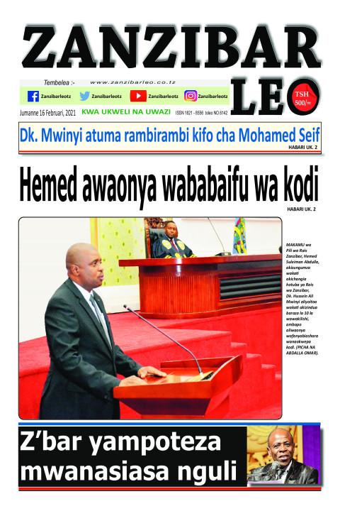 Hemed awaonya wababaifu wa kodi | ZANZIBAR LEO