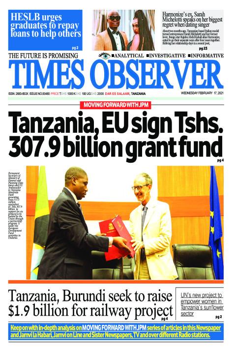 Tanzania, EU sign Tshs.307.9 billion grant fund | Times Observer