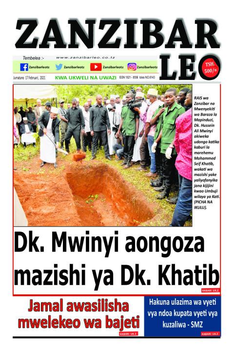 Dk. Mwinyi aongoza mazishi ya Dk. Khatib | ZANZIBAR LEO