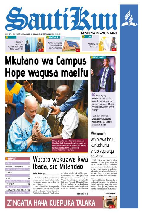 Mkutano wa Campus Hope wagusa Maelfu | Sauti Kuu Newspaper