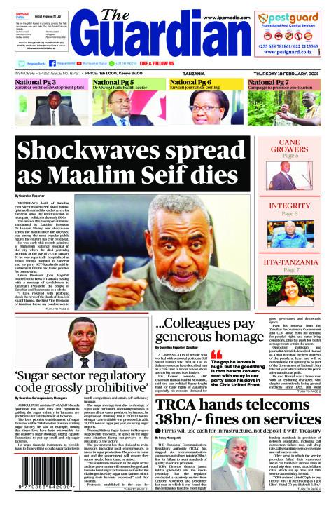 Shockwaves spread as Maalim Seif dies | The Guardian