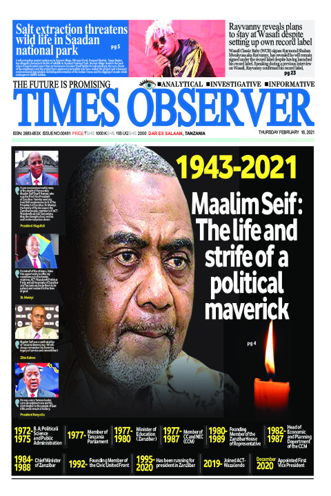 Maalim Seif : The life and strife of a political maverick | Times Observer