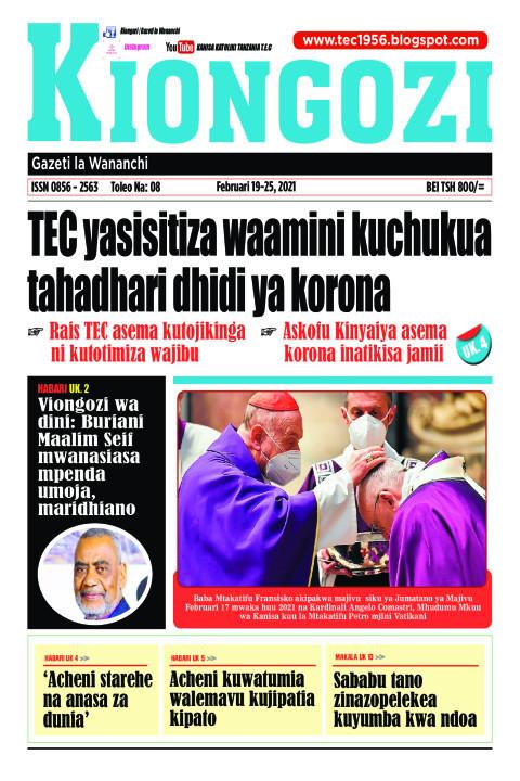 TEC yasisitiza waamini kuchukua tahadhari dhidi ya korona | Kiongozi