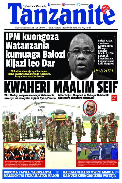 KWAHERI MAALIM SEIF | Tanzanite
