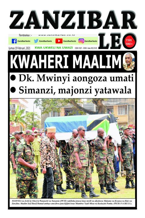 KWAHERI MAALIM | ZANZIBAR LEO
