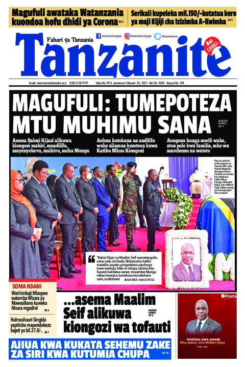 MAGUFULI: TUMEPOTEZA MTU MUHIMU SANA | Tanzanite