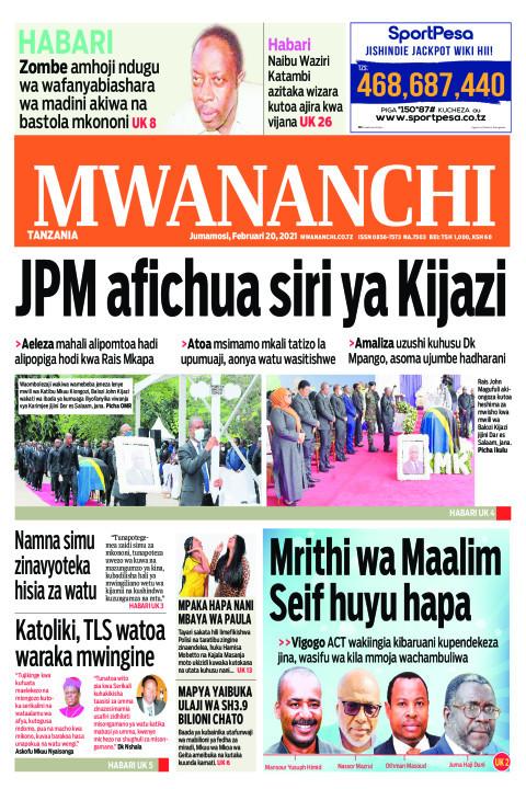 JPM AFICHUA SIRI YA KIJAZI  | Mwananchi
