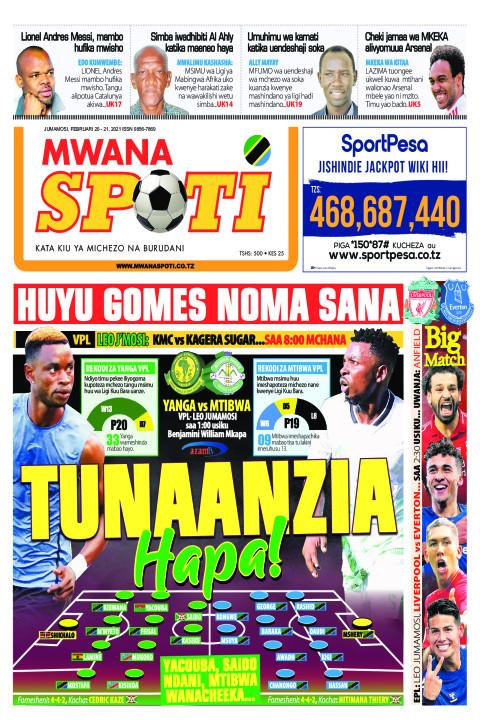 TUNAANZIA HAPA!    Mwanaspoti