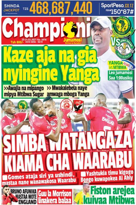 SIMBA YATANGAZA KIAMA CHA WAARABU | Champion Jumamosi