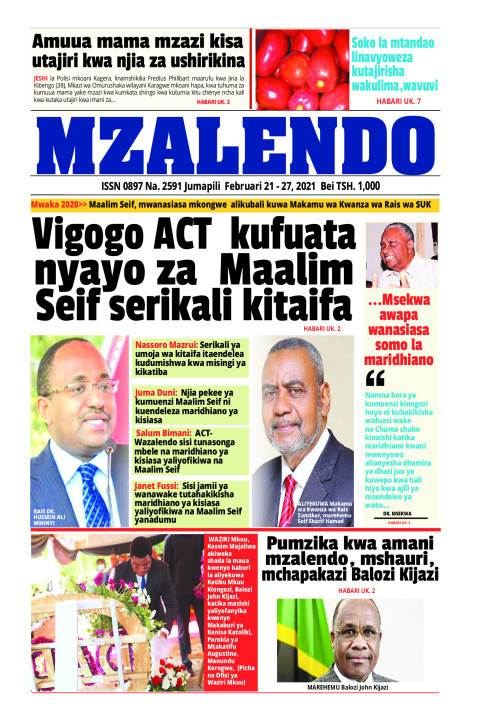 Vigogo ACT kufuata nyayo za Maalimu Seif serikali kitaifa | Mzalendo