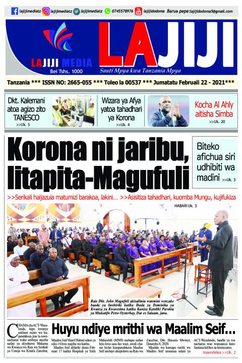 Korona ni jaribu, litapita-Magufuli  | LaJiji
