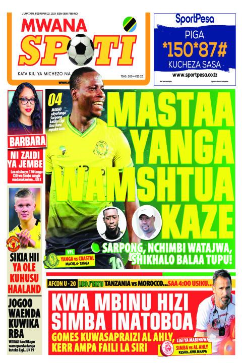 MASTAA YANGA WAMSHTUA KAZE    Mwanaspoti