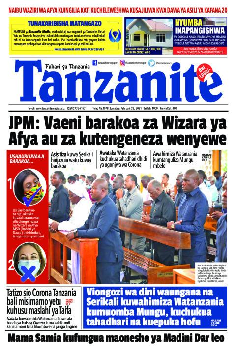 JPM: Vaeni barakoa za Wizara ya Afya au za kutengeneza wenye | Tanzanite