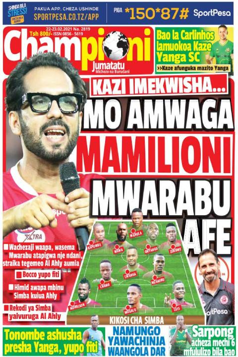 MO AMWAGA MAMILIONI MWARABU AFE | Champion Jumatatu