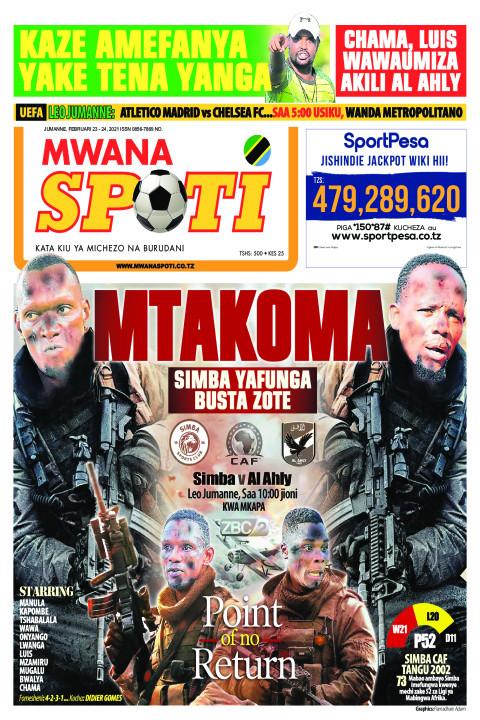 MTAKOMA SIMBA YAFUNGA BUSTA ZOTE    Mwanaspoti