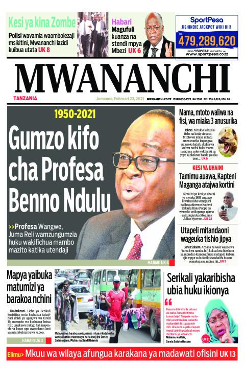 1950-2021 GUMZO KIFO CHA PROFESA BENNO NDULU  | Mwananchi