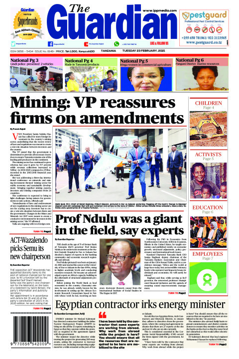 Mining: VP reassures firms on amendments | The Guardian