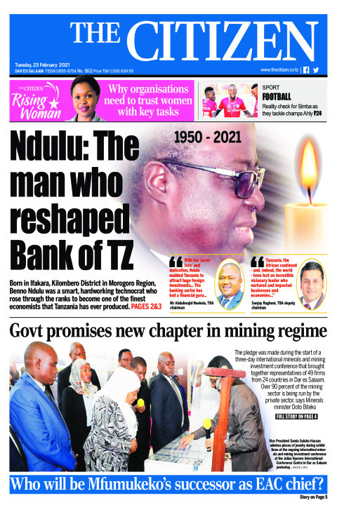 NDULU: THE MAN WHO RESHAPED BANK OF TZ