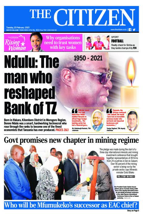 NDULU: THE MAN WHO RESHAPED BANK OF TZ  | The Citizen
