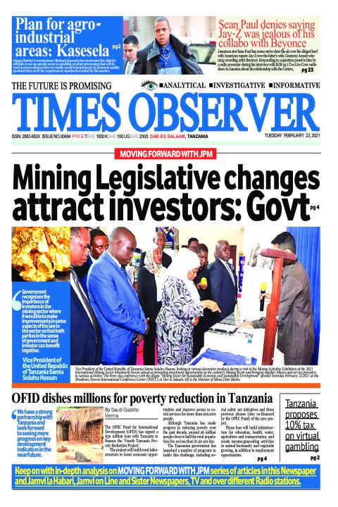 Mining Legislative changes attract investors: Govt | Times Observer