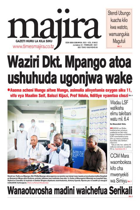 Waziri Dkt Mpango atoa ushuhuda ugonjwa wake   MAJIRA