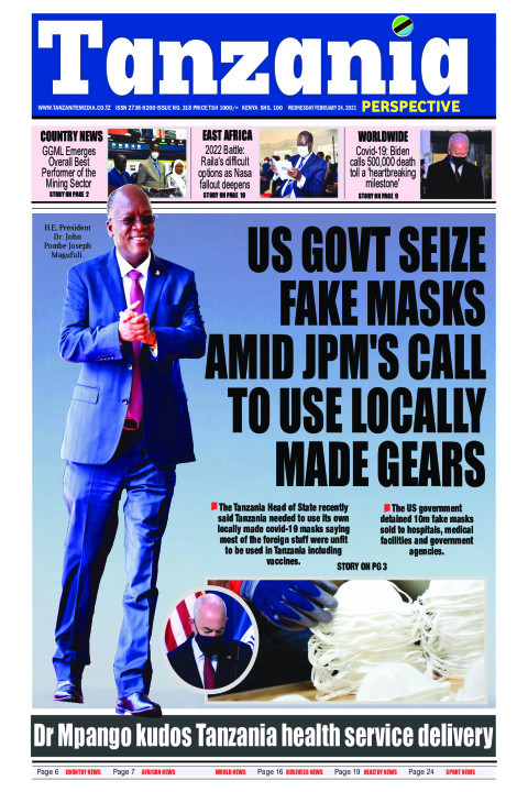 US Govt seize fake masks amid JPM call to use locally made g | Tanzania Perspective