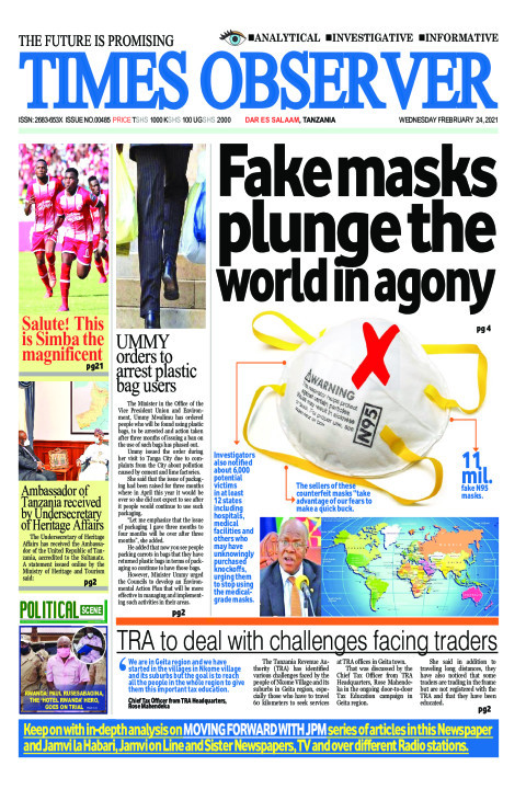 Fake masks plunge the world in agony | Times Observer