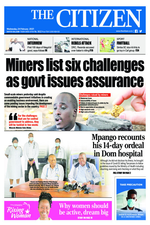 MINERS LIST SIX CHALLENGES AS GOVT ISSUES ASSURANCE