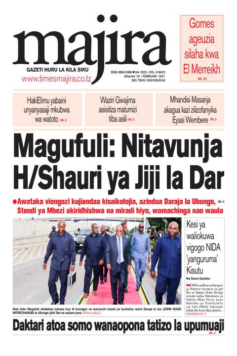 Magufuli: Nitavunja Halmashauri ya Jiji la Dar   MAJIRA
