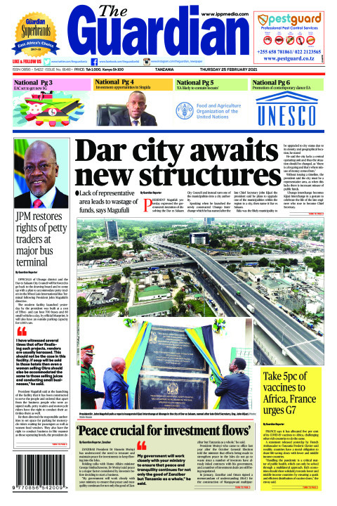 Dar city awaits new structures | The Guardian