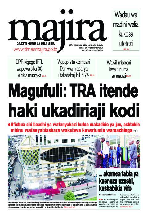 Magufuli: TRA itende haki ukadiriaji kodi   MAJIRA