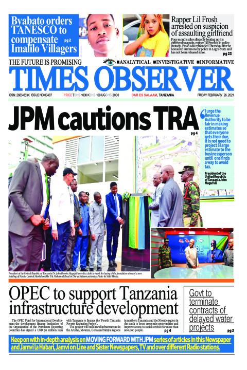 JPM cautions TRA | Times Observer