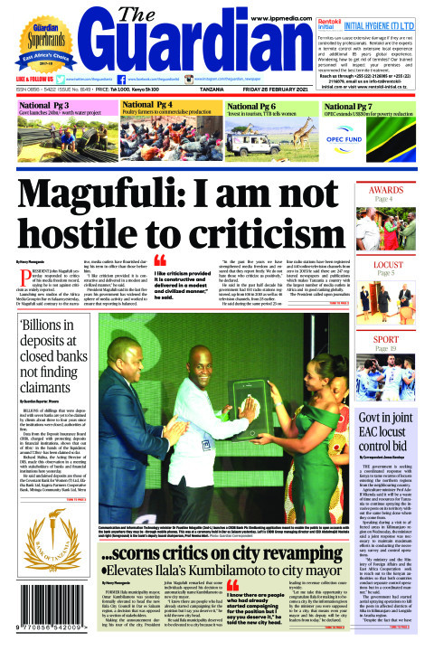 Magufuli: I am not hostile to criticism | The Guardian