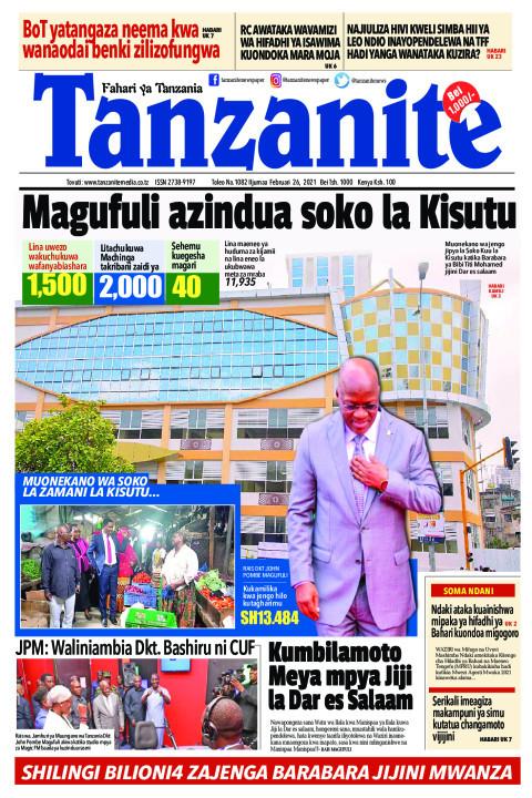 Magufuli azindua soko la Kisutu | Tanzanite