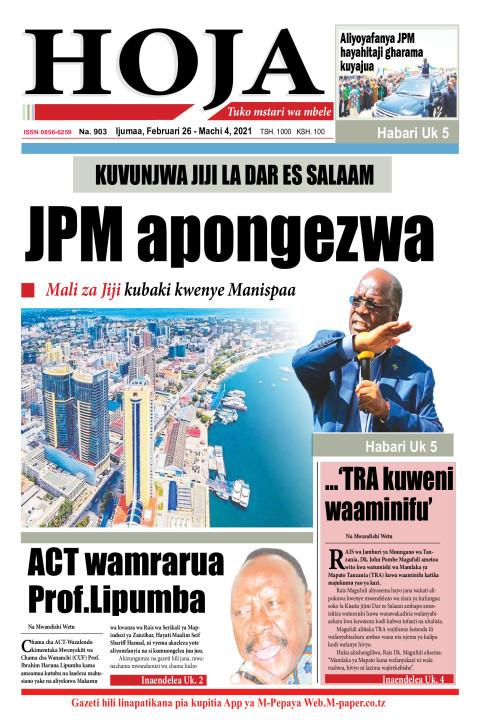 JPM apongezwa | HOJA