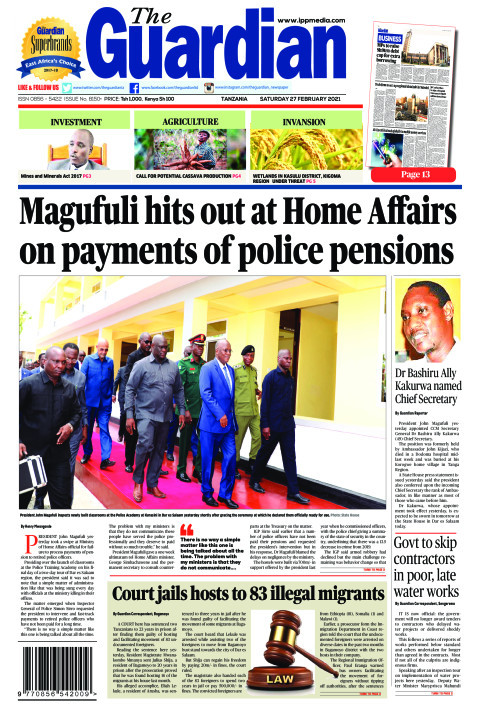 Magufuli hits out at Home Affairs on payments of police pens | The Guardian