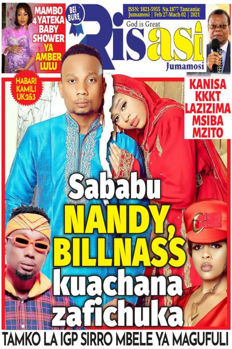 Sababu NANDY,BILLNASS kuachana zafichuka | Risasi Jumamosi