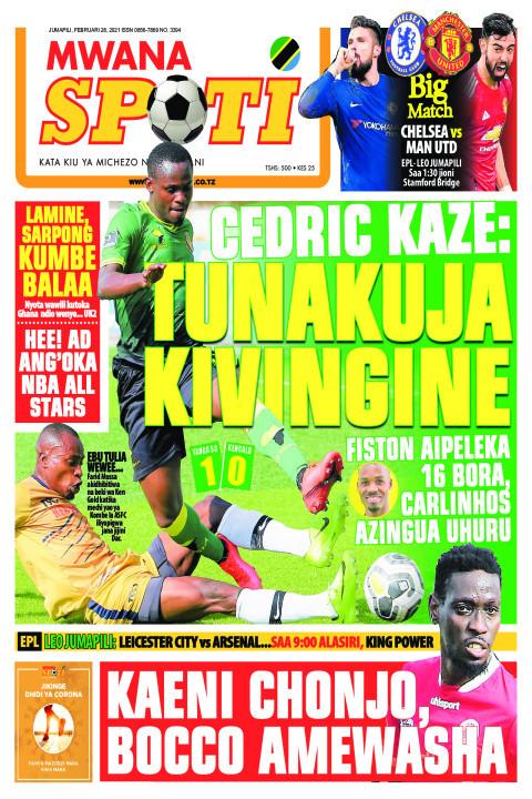 CEDRIC KAZE: TUNAKUJA KIVINGINE    Mwanaspoti