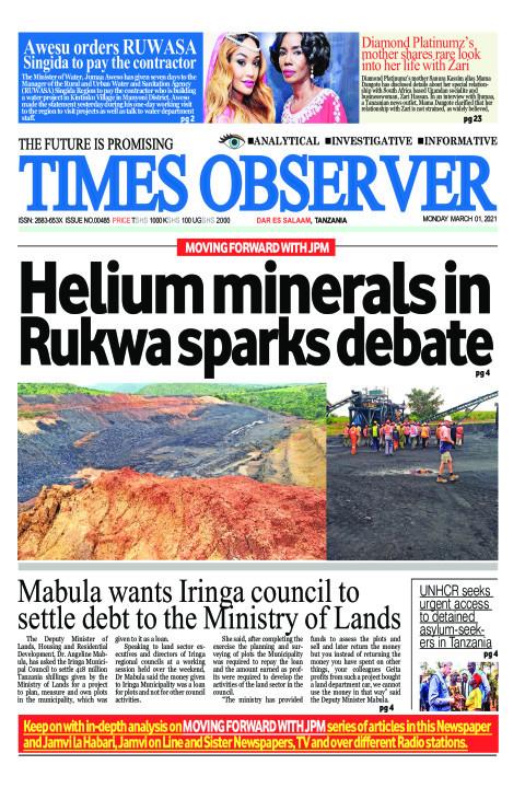 Helium minerals in Rukwa sparks debate | Times Observer