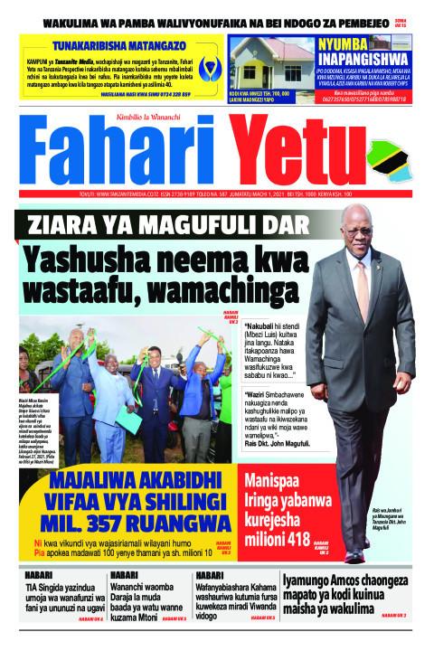 Yashusha neema kwa wastaafu, wamachinga | Fahari Yetu