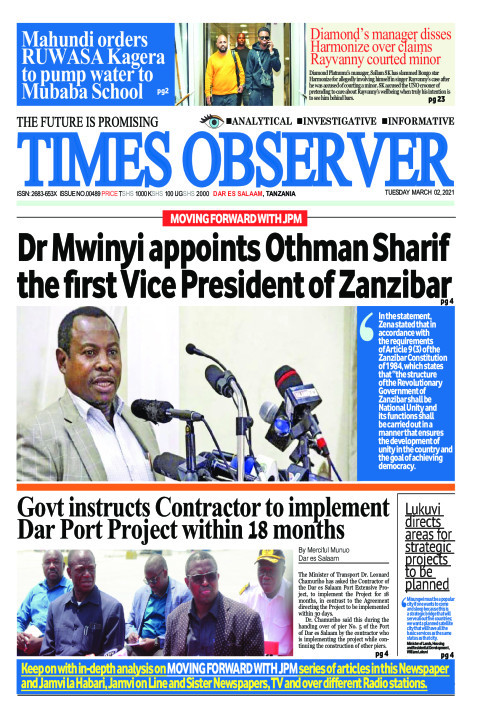 Dr Mwinyi appoints Othman Sharif the first Vice President of | Times Observer