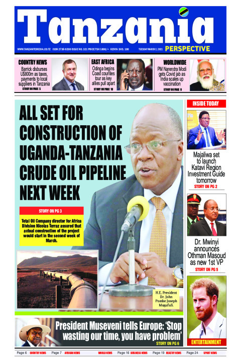 All set for construction of Uganda-Tanzania crude oil pipeli | Tanzania Perspective