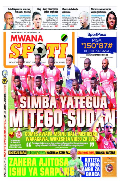 SIMBA YATEGUA MITEGO SUDANI    Mwanaspoti