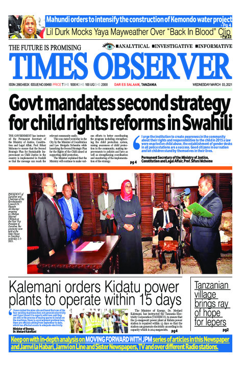 Govt mandates second strategy for child rights reforms in Sw | Times Observer