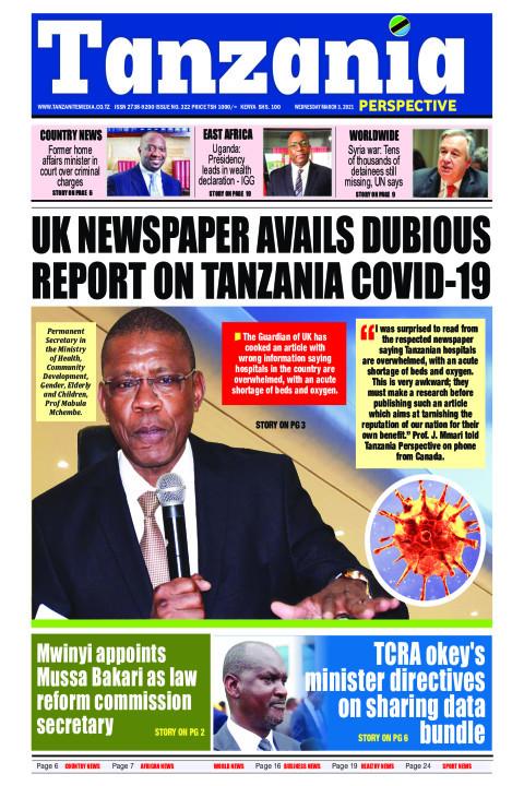 UK newspaper avails dubious report on Tanzania Covid-19 | Tanzania Perspective
