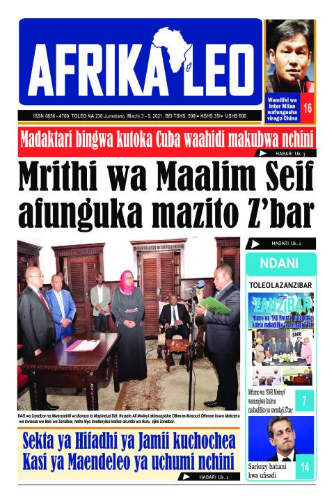 Mrithi wa Maalim Seif afunguka mazito Z'bar | AFRIKA LEO